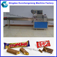 Full Automatic bread candy chocolate flow wrapping machine