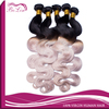 Factory price china wholesale body wave brazilian hair extension root 1B color grey hair weave