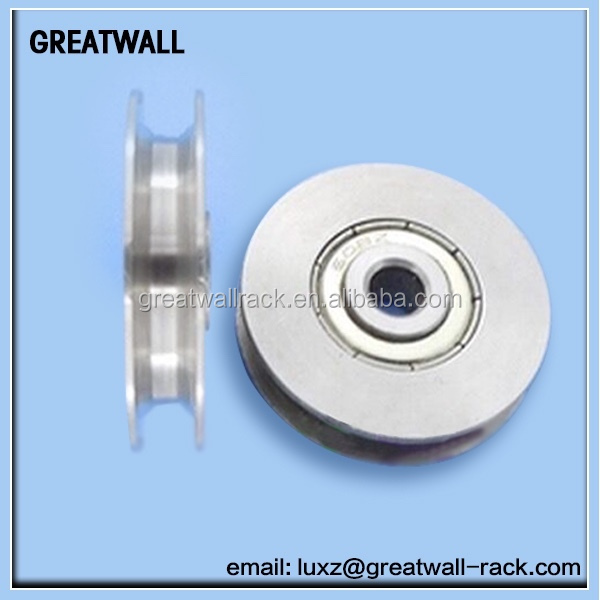 GREATWALL O Groove Wheel Double Bearing Sliding Gate 3000 Lbs Roller Slide+screw