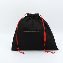 Custom logo print drawstring bag, cotton drawstring bag