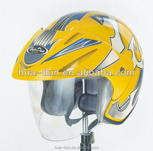 HD dot approved large visor open face motorcycle helmet
