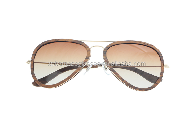 Italy Fashion Style Custom Own Brand Polarized Mens Women Wood Aviator Sun Glasses