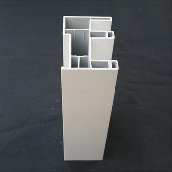 European white color  for window and door sliding upvc profile
