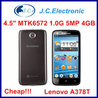 Cheap Original Lenovo A378T Cell Phones 4.5 inch MTK6572 Dual Core 3G Smart Phones 5MP Android Phone Russian Multi language