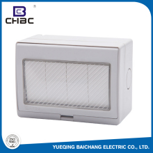 CHBC Factory Price 4 Gang Home Widely Used Waterproof Electrical Wall Switch