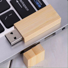 Magnet cover promotional gift customized laser engraving logo rectangular shape 4GB wood usb pen drive