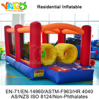 Curso de inflable de la gorila 420D nylon castillos hinchables inflatable obstacle Course