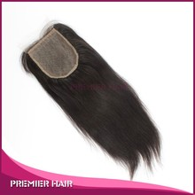 Light Yaki Virgin Brazilian Human Hair Silk Base Lace Closure