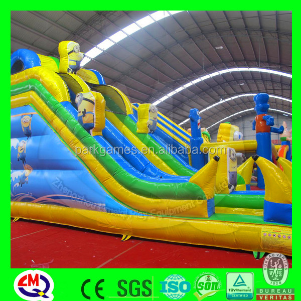 outdoor amusement children playground inflatable slide