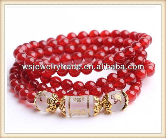 Fashion Prayer Beads 108 Natural Red Agate Bracelet Pig Mascot Mala Beads,Rosary Prayer Bracelet