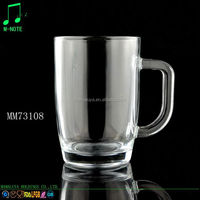 310ml cheap price wholesale drinkware large coffee glass mug/water glass cup with handle
