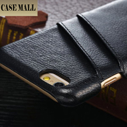 Factory Top Luxury Mobile Phone Ultra Slim Protective Carrying Wallet Gold Leather Cell Phone Case for iPhone 6 Case