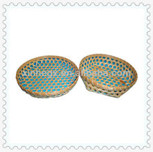 simple weaving bamboo basket with lid for decoration