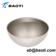 Matte Surface Healthy Anti-corrosion Pure Titanium Bowl