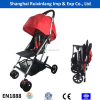high quality light weight alu frame quick folding airplane baby stroller
