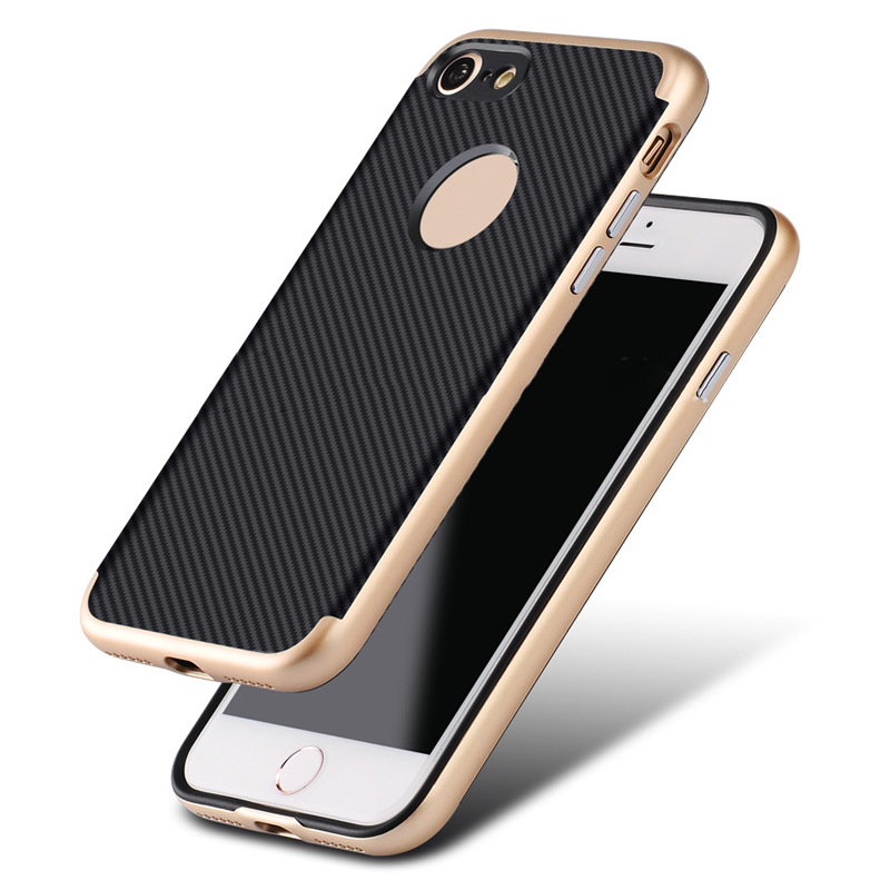 3 in 1 hybrid armor plastic hard PC case with edge plating cover for iphone 7