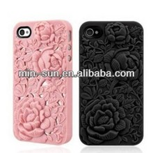 Flower design Hot-selling mobile phone silicon case/cell phone cover/decorative cell phone cover