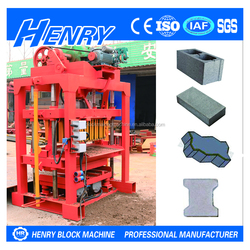 2016 High efficient and low cost QTJ4-40 small concrete block making machine, cement paver brick making machine price in India