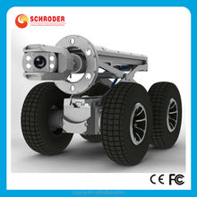 Schroder S300 underground pipe locator crawler robot Hydro jet drain cleaning sewer pipe inspection camera