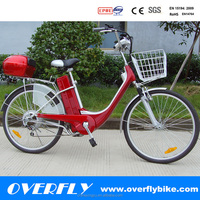 26'' brushless rear motor bicycle e-bike lead acid women electric bike XY-EB008 with CE