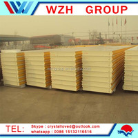 Cold room panel with rigid polyurethane foam, PU sandwich panel, Polyurethane foam sandwich panel from china supplier