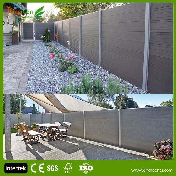 2016 new design outdoor wpc garden fence wood plastic - Vallas jardin pvc ...
