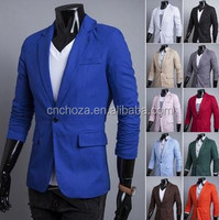 Z50420B Gent man candy colors plain suits, man formal business suits