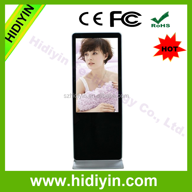 "43"" LCD floor standing lcd advertising player auto play vedio ad player"