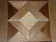 Honey Color Wire-brushed Parquet Wood Flooring For House