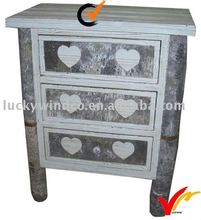 Shabby chic old world drawer console table
