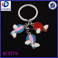 2014 yiwu renqing wholesale colorful high qaulity hot air balloon key chain