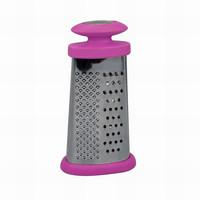 "JK12546E 6"" Stainless Steel 2 sided Food Grater with Comfortable Grip Handle"