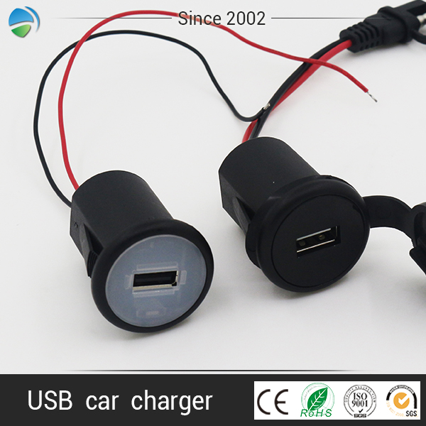 OEM wireless 3.7v USB Single ports smart car quick charger for iso