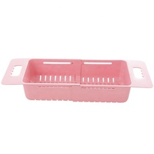 Retractable Sink Drain Rack Plastic Tableware <strong>Shelf</strong> Kitchen Dish Rack Vegetable Storage Rack