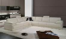 2013 Latest Design, Modern Genuine Top Grain Leather L Shaped Sofa Set lounge chair inflatable A097-11