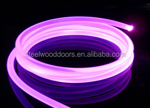 fiber optic pool light,solid side glow fiber optic for swimming pool light decoration