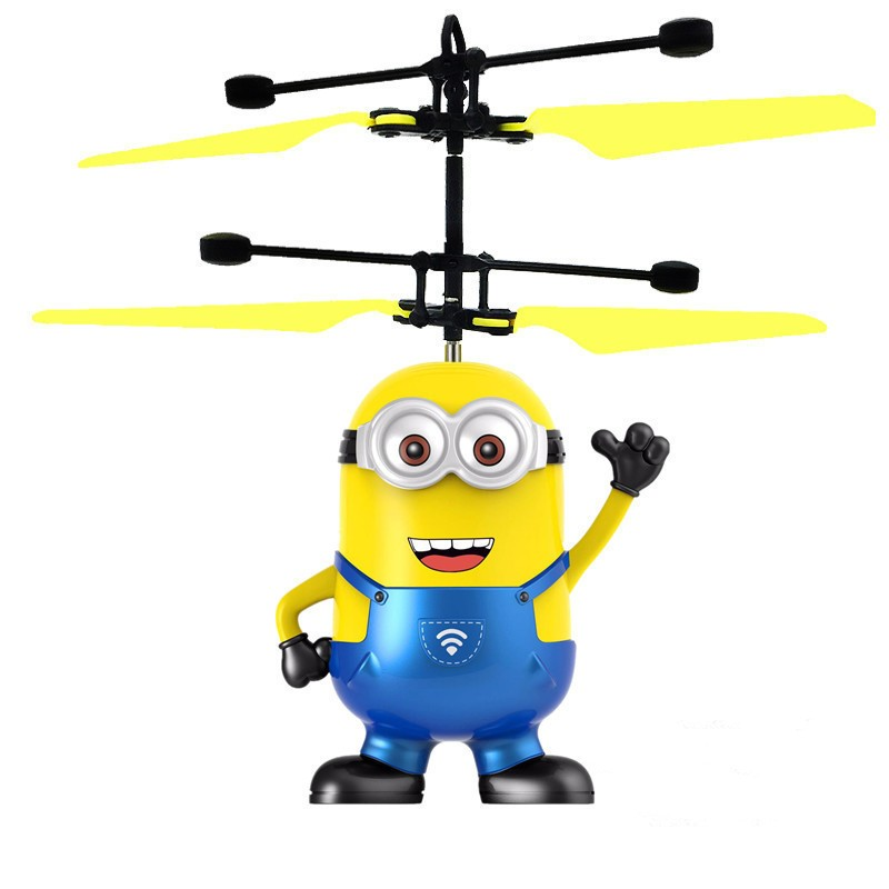 Mini RC Helicopter Despicable Flying Minion Shatter Resistant Remote minion flying toy 2 Ch RC