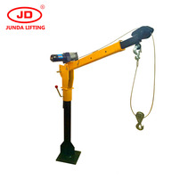 500kg mini electric utility vehicle truck crane wth mathced winch or electric hoist