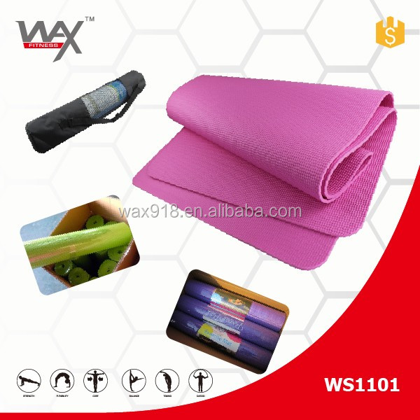 Nantong Wax Sports Cheap Eco Friendly PVC Yoga Mat with Carry Strap Round Yoga Mat