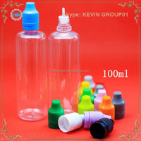 100ml Plastic Bottle Container with Ribbed Lid for Lab Liquids Solids Collecting