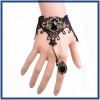 2015 Vintage Style wholesale expandable popular teen bracelet with ring