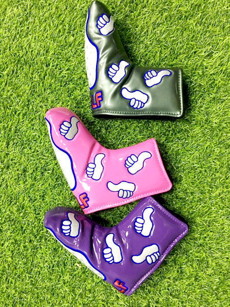 PU Embroidery Golf putter head cover staight type