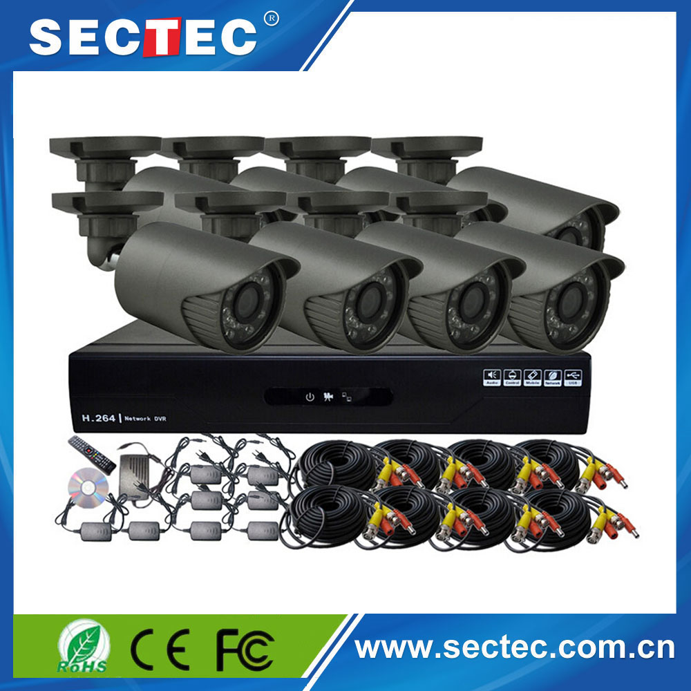 China Manufacturer SECTEC ahd security surveillance systems cctv dvr kit