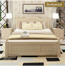 Hot sale cheap bedroom funiture wood double bed designs with box king size bed