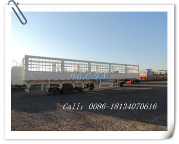 HCSV 4 axle high wall cargo semi trailer