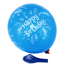 promotional blue color printed birthday decoration balloons