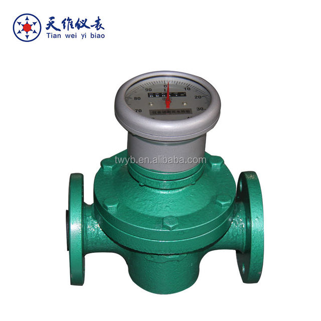 Special design diesel fuel consumption mechanical oval gear flow meter