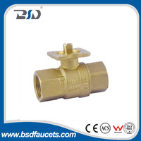Contemporary brass body 2-ways and 3- ways ball valve with electric actuator