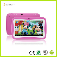 Colorful OEM custom logo 7 inch android learning education kids tablet