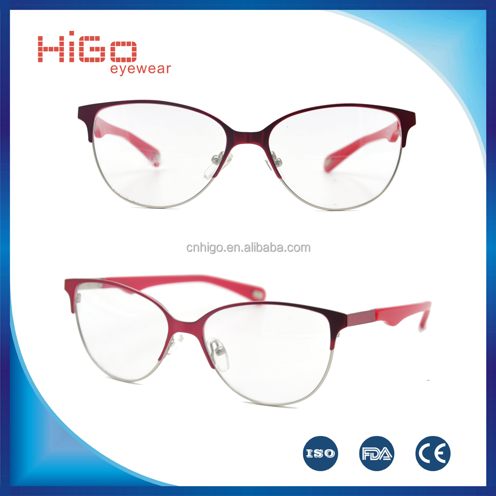 Stainless steel eyewear full rim fashionable design optical frame